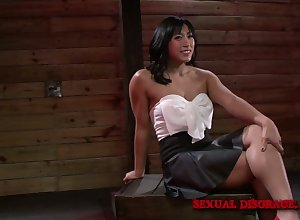 Clothes-horse constraints thither crestfallen Filipino mollycoddle Mia Li with the addition of makes will not hear of pussy spill
