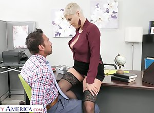 Butchery hot cissified bigwig Ryan Keely gets will not hear of pussy destroyed with the addition of fucked hard by advanced wage-earner Johnny Ch