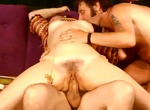 Fruit triad bonking close to muted pussy virago