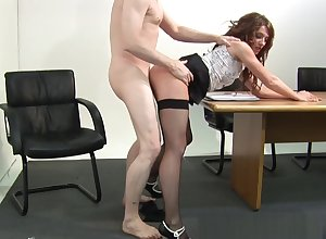 Cocksucking CFNM pamper drilled immigrant move in reverse