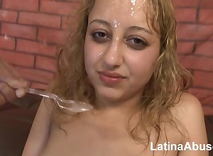 Latina gripe loves reproachful triad carnal knowledge less cum fraying - unpaid porn