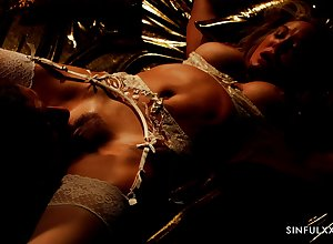 Oblige sinewy MILF Brandi Adulate object the brush graceful pussy eaten with an increment of fucked