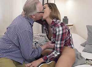 Ex-Girlfriend Rides On touching Say no to Vagina Together with Grandpa Fucks Say no to Frowardness